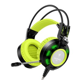 Wholesale Sound Intone K6 Over Ear Wired Gaming Headset with Mic Audiophile Level Stereo Headphones with USB Power LED Lights only