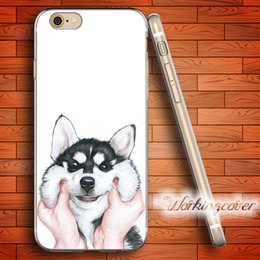 Capa Siberian Husky Soft Clear TPU Case for iPhone X 8 6 6S 7 Plus 5S SE 5 5C 4S 4 Case Silicone Cover.