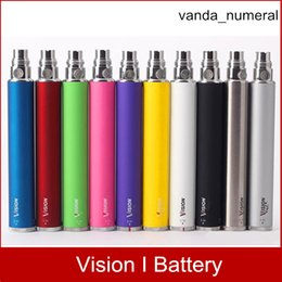Vision ego twist 3.3-4.8V electronic cigarettes Variable Voltage VV battery 650 900 1100 1300mAh e cigs cigarette ego atomizer DHL