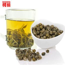 C-LC008 Vente en gros de soins de santé Jasmine Fleur Thé Premium Jasmine Pearl Thé parfumé 100g Chine Coût-efficace de thé vert à partir de thé floraison gros en chine fabricateur