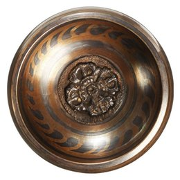 9CM Buddhism Tibetan Hammered Yoga Brass Copper Meditation Singing Bowl With Hand Hammered Stick Art Decoration Craft Gifts