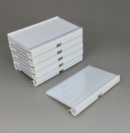 W60 80 100mmxH46mm 42mm PVC Plastic Price Tag Sign Label Display Holder In White Clear For Supermarket Shelf Stand Hook Rack 50pcs