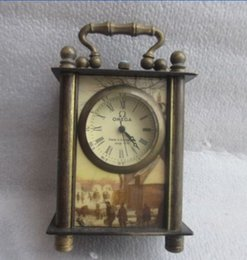 Wholesale cm Exquisite Chinese ancient copper hand carved can use mechanical clock timer picture randomly sent