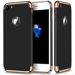 Wholesale Para el iPhone más caso duro de la PC del oro Desprendible en más nuevo fundas mate fundas cautivas para el iPhone S