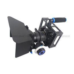 Aparejo de jaula en venta-3in1 DSLR Cage Kit Estabilizador de mano Montaje Rig + Matte Box + Seguir el enfoque para Canon 5D 6D 7D 60D 5DII 5DIII Cámara Videocámara