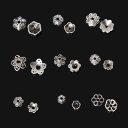 Wholesale New arrival Assorted Size Antique Silver Plated Flower Metal Loose Spacer Bead Caps For DIY