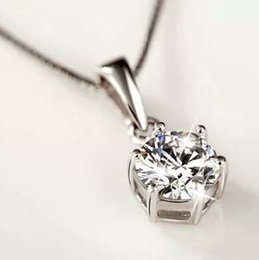 925 artículos de plata de ley joyas de cristal 6 garra colgante de diamantes declaración collares encantos envío gratis