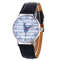 Wholesale 2016 fashion women ballet dancing leather watch casual girls ladies roma music printing dress quartz watches