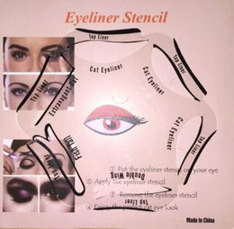 Wholesale 6 in Stencils Eyeliner Template Smoky Makeup Guide Cat Eye Liner Quick Tool