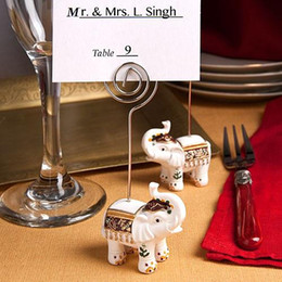 Fast Delivery! Wedding Favor Good Luck Elephant Place Card Holders Wedding Shower Favors Wholesale