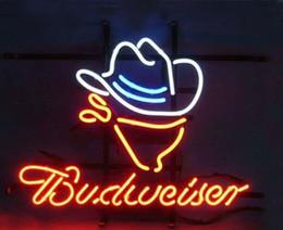 2017 signes de cow-boy Budweiser Cowboy Beer Pub Bar Neon Sign 17