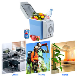 Wholesale Portable V L Auto Car Mini Fridge Travel Refrigerator Quality ABS Multi Function Home Cooler Freezer Warmer