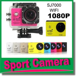 "Mini cámaras wi fi en venta-Camcorders Waterproof Sports Camera with wi-fi SJ7000 HD Action Camera Buceo 1080P 30M 2.0 ""LCD Mini DV DVR videocámaras digitales DHL JBD-N3"