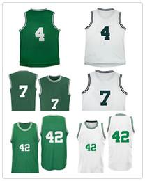 2017 les brunes Les hommes # 4 Isaiah Thomas # 42 Al Horford de la meilleure qualité de logos de la broderie 100% ont cousu les jerseys adultes # 7 Jaylen Brown de maille de la broderie Livraison gratuite les brunes à vendre