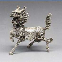 Chinese Silver Copper Statue - Kirin statue