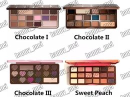 Factory Direct DHL Free Shipping New Makeup Eyes Chocolate Bar Sweet Bon Bons Semisweet Sweet Peach Eyeshadow Palette!4 Different Colors