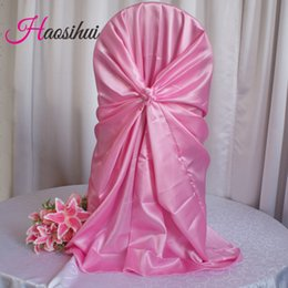 Wholesale 50 Polyester Spandex Dining Chair Covers For Wedding Party Chair Cover Brown Dining Chair Seat Covers decoration