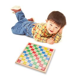 Wholesale Wooden Math Dominoes Toy Double Side Printed Multiplication Table Pattern Board Children Educational Kids Wooden Toys