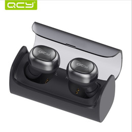 Wholesale QCY Q29 English business bluetooth earphone wireless D stereo headphone and power bank for iphone all bluetooth device