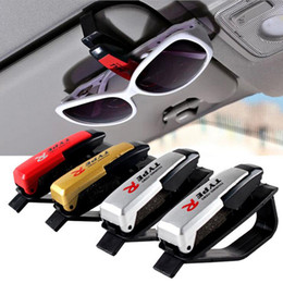 Wholesale New Car styling Auto Fastener Clip Auto Accessories PVC Car Vehicle Sun Visor Sunglasses Eyeglasses Glasses Ticket Holder Clip