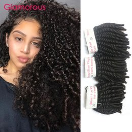 Glamorous Mongolian Kinky Curly Hair Weave 3 Pieces Natural Color Peruvian Brazilian Malaysian Indian Virgin Hair Kinky Curly Hair Extension