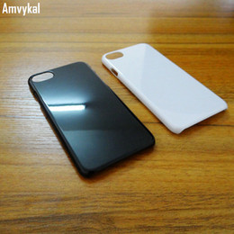Amvykal For iphone X Xs XR Xs Max 5s SE 6s 7 8 Plus Case Glossy 1.3mm Solid Plastic PC Hard Cover