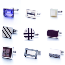 Stainless Steel Cufflinks Men's fashion jewelry for Classic Wedding Business