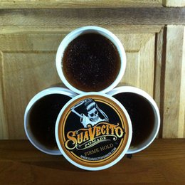 Wholesale 1 freeship Suavecito Pomade Gel oz g Strong Style Restoring Ancient Ways is Big Skeleton Hair Slicked Back Hair Oil Wax Mud
