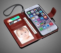 Wholesale Hot Sale Iphone Cell Phone Cases With Card Pocket Leather Case Album Phone Back Cover with wallet