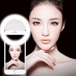 2017 anillo de luz led de la cámara Selfie Cámara Portátil Led Fotografía Anillo Luz Mejora de la Fotografía para Smartphone iPhone Samsung Rosa Blanco Negro anillo de luz led de la cámara outlet