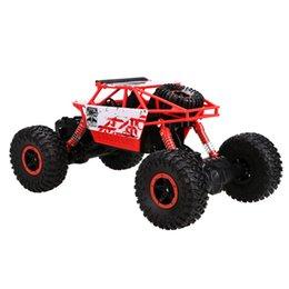 2017 4wd nouvelle voiture Vente en gros-1PC nouveau jouet rouge 1: 18 4WD Rock Crawler RC voiture 2.4GHz avec télécommande EU Plug au-dessus de 8Y pour Boy enfants Drop Shipping