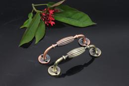 Wholesale top handle door handles home hardware drawer pulls knob bronze copper knobs antique cabinet handles with screws
