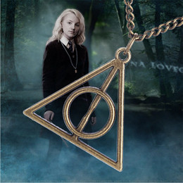Wholesale New Hot Fashion Fine Movies Jewelry Ancient Silver Bronze Magic World Deathly Hallows Necklaces Pendants For Women N