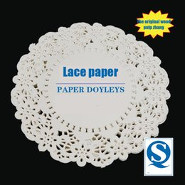 Wholesale Manufacturers Selling Round White Bottom Paper Inch And Inch Green Lace Paper Snacks Crocheted Oil Absorption Pad Of Paper