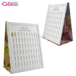 Wholesale BeautyGaGa pc Nail Tips Display Color Chart Nail Art Salon Manicure Pedicure Tools UV Gel Polish Color Book