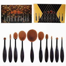 Wholesale HOT Oval Makeup Brush Cosmetic Foundation BB Cream Powder Blush pieces Makeup Tools DHL GIFT