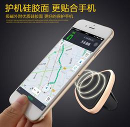 Vent mount gps en Ligne-DHL Universal Magnetic Car Air Vent Holder Mount Cradle Stand pour téléphone portable GPS Tablet Android Devices