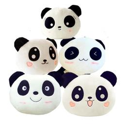Oreillers panda en peluche en Ligne-Cute Kawaii 20cm Poupée Poupée Jouet Peluche Panda Coussin Souple Coussin Fille Cadeau D'anniversaire Jouets Pour Enfants Enfants Noël