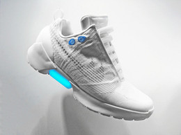 Wholesale air Mag Mens Back To The Future Sneakers HyperAdapt Lighting Mags Mens Basketball Shoes With LED Lights Running shoes without auto laces