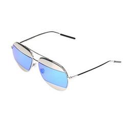 Wholesale Tide Women Di or Sunglasses Brand Designer Sunglasses Metal Frame Aviator Vintage Mirror Sun Glasses Brands for Men Women