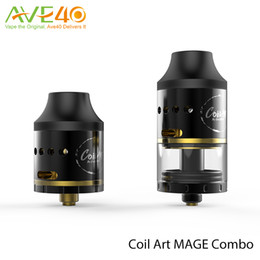 Wholesale CoilArt Mage Combo Coil Art Mage RDTA RDA mm Diameter with k Gold Plated Building Posts VS Ijoy Limitless XL