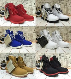 Wholesale Sale Men Brand Designer Winter TIM BER Boots Top Quality Black Red Yellow Waterproof Outdoor Boots Cow Leather Leisure Ankle Boots Online