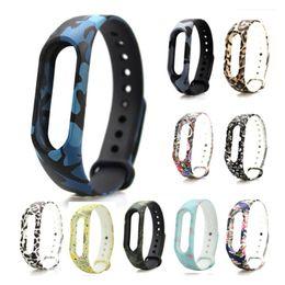 Acheter en ligne Mi bracelet de bande-Bracelet Xiaomi Mi Band 2 Bracelet coloré Remplacement Smart Band Accessoires Pour Mi Band 2 sangles en silicone
