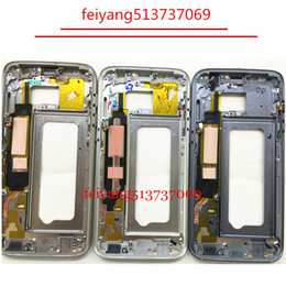 new Metal Middle Bezel Frame Case for Samsung Galaxy S7 G930 S7 Edge G935 Housing with Small Parts
