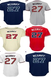 Factory Outlet Atlanta 27 Fred McGriff Throwback White Grey Red Beige Blue Hot Sale Best Quality Cheap Embroidery Logos Baseball Jerseys