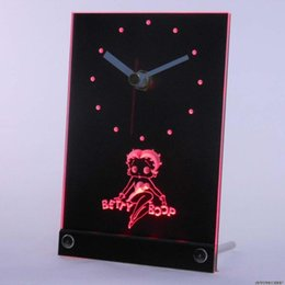 Wholesale tnc0233 Betty Boop Table Desk D LED Clock