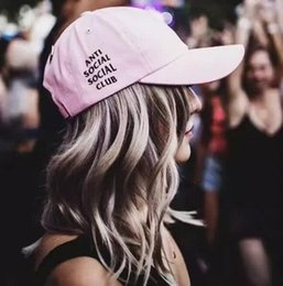 2017 New 10 Colors Blue Pink White Black Adjustable Hat Anti Social Club Golf Cap Baseball Caps Sport Hats for Men Women