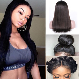 Factory Price Lace Frontal Wigs 8A Grade Straight Lace Frontal With Natural Hairline Pre Plucked Brazilian Virgin Human Hair Hand Tied