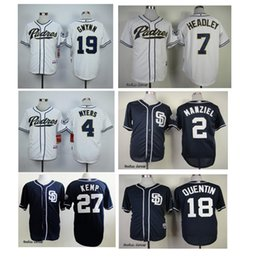 2017 johnny manziel jerseys San Diego Padres Jersey # 2 Johnny Manziel # 27 matt kemp # 4 Wil Myers # 19 Tony Gwynn Flexbase Onfiled Jersey abordable johnny manziel jerseys