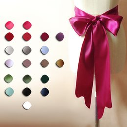 Multi-Color Double Satin Bridal Sashes Wedding Belt Extra Wide Wedding Belt Sahes For Brides Wedding Dress Belt Pink Sashes